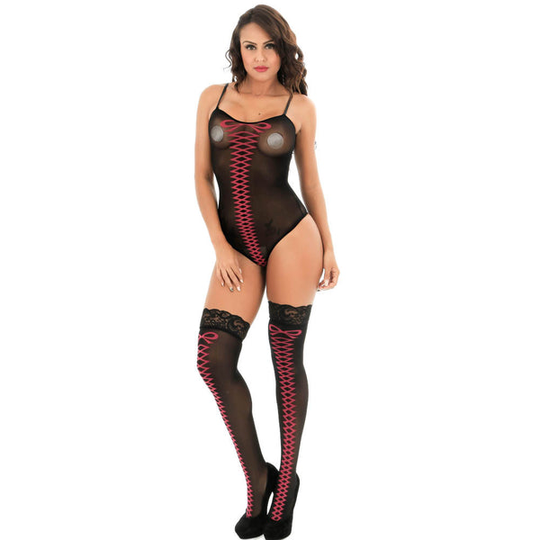 Comfortable Soft Women Bodysuit Lingerie Sleepwear Three Piece Set - The Clothing Company Sydney