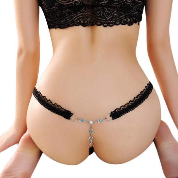 Floral Lace V-String Briefs Panties Thongs G-string Lingerie Underwear - The Clothing Company Sydney