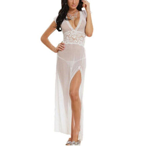 Womens Maxi Lingerie Nightwear Sleepwear Dress with G String