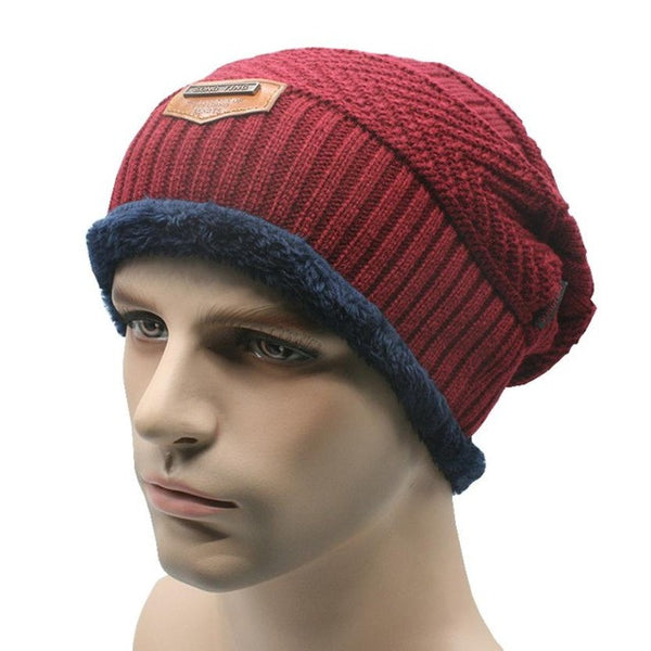 New Arrival Winter Warm Men Baggy Knitted Ski Skullies Beanies