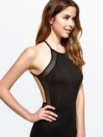 Black Backless Halter Neck Bodycon Dress - The Clothing Company Sydney