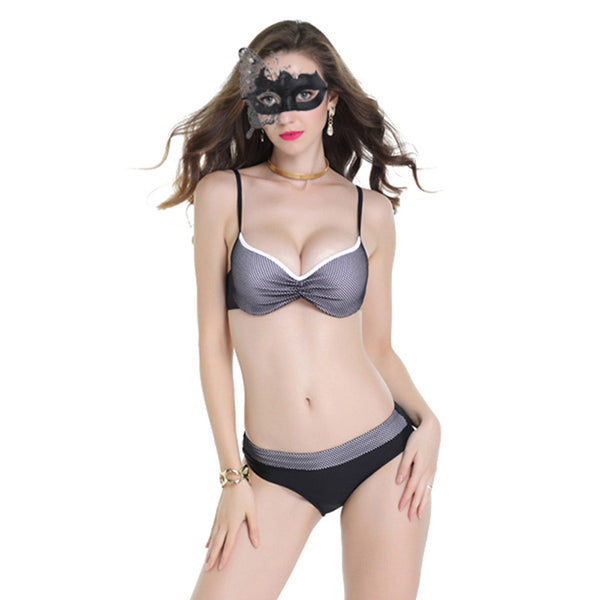 Two Piece Dual Colour Bikini Swimsuit for Women Push Up Sexy Swimwear