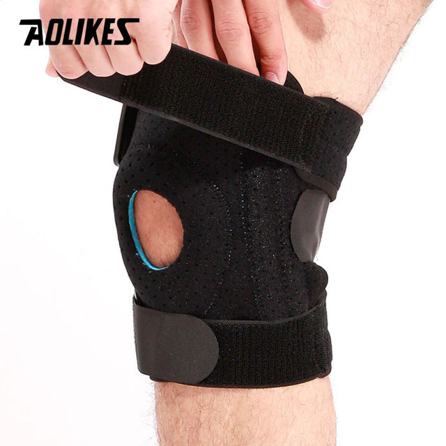 AOLIKES 1PC Meniscus Knee Pads Silica Gel Knee pads Hiking Running Basketball Knee Support Breathable Sports Knee Protector