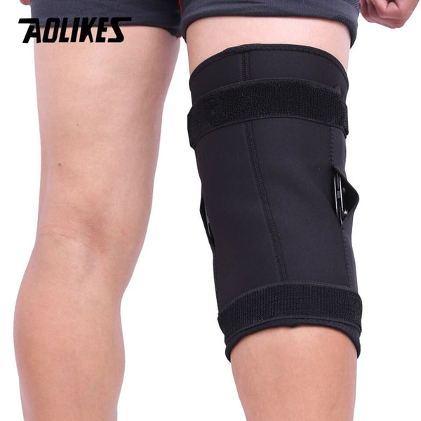 AOLIKES 1PC Professional Sports Safety Knee Support Brace Patella Pads Hole Sports with Metal Plate