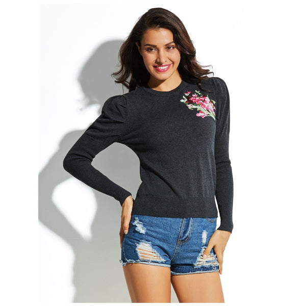 Full Sleeves Black Cute Vocation Pullovers Sweater - The Clothing Company Sydney