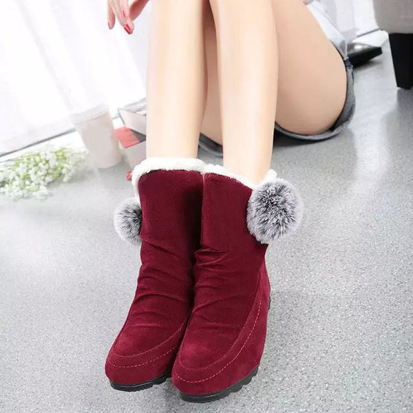 Fashion Ankle High Flat Casual Warm Suede Boots - The Clothing Company Sydney