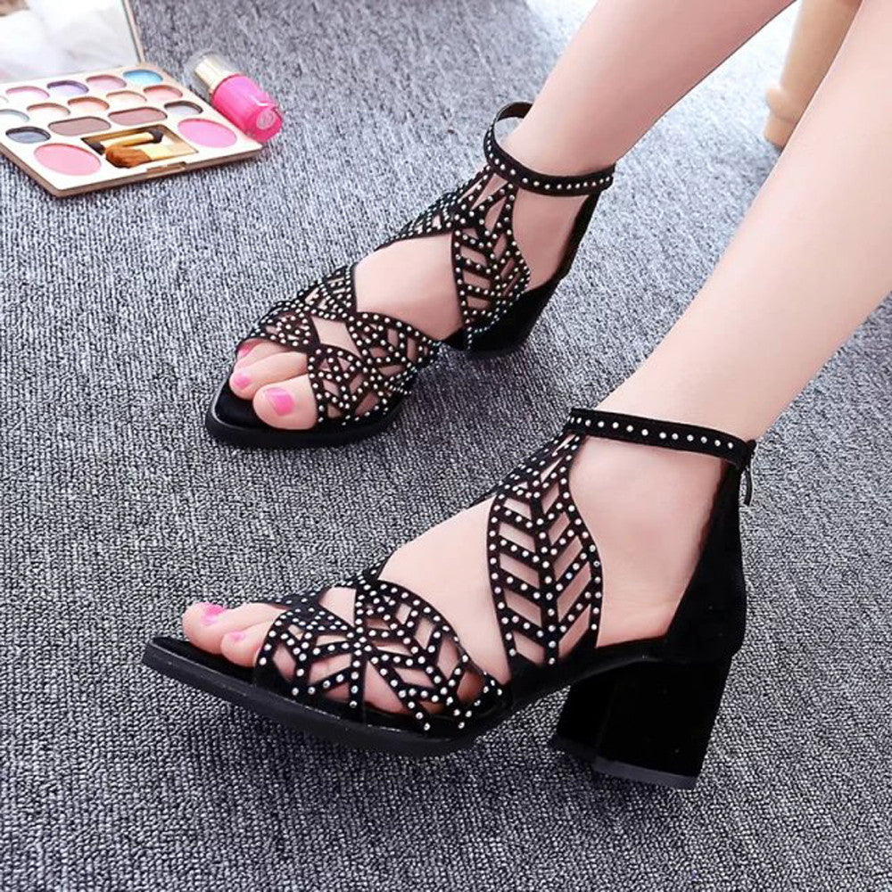 Platform Wedge High Heel Bohemian Sandal Shoes