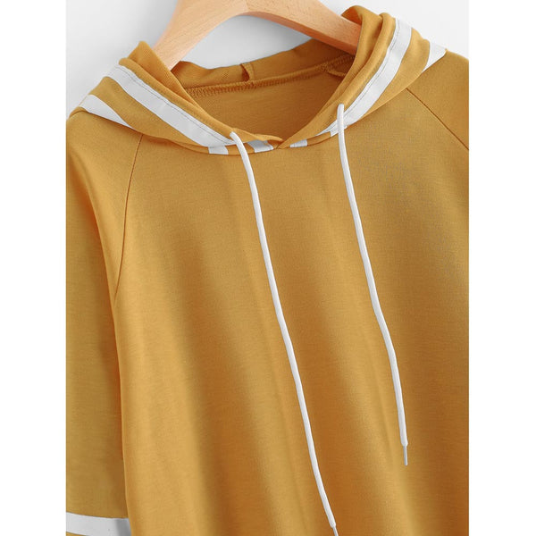 Long Sleeve Sweatshirt Jumper Hooded Pullover Top