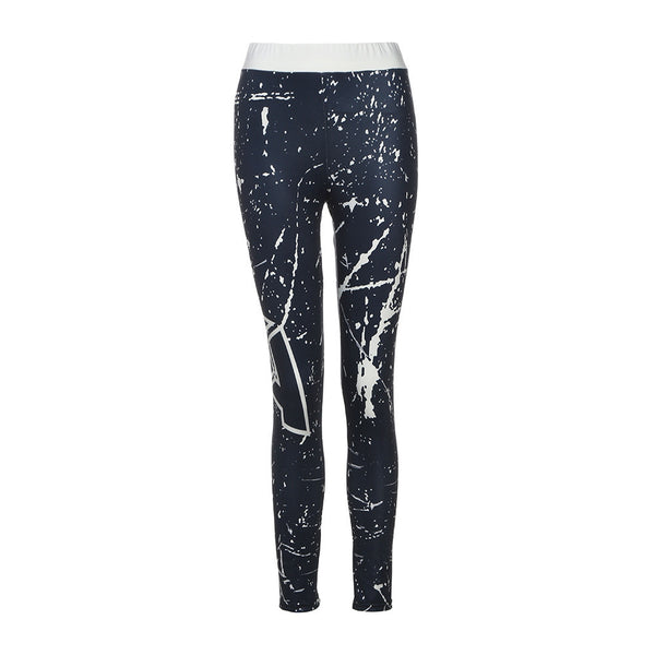 Sky Print Yoga Skinny Workout Gym Leggings