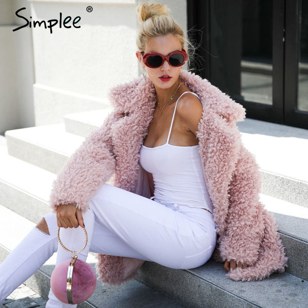 Faux Fur Trendy Streetwear Autumn Winter Jacket Coat (Plus Size) - The Clothing Company Sydney