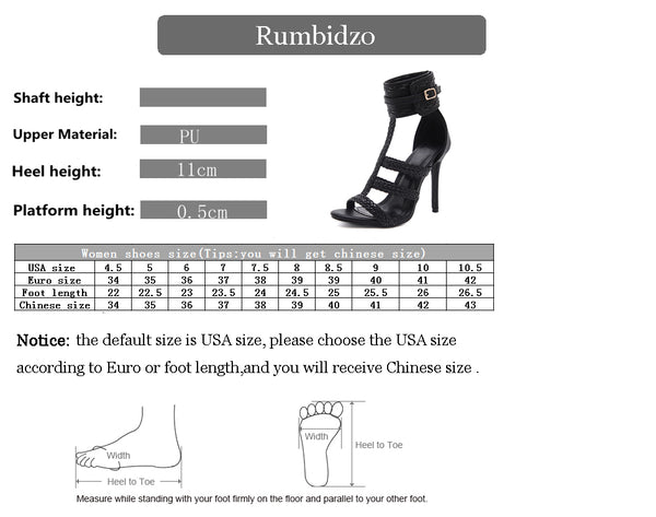 Womens Plus Size Summer High Heels Thin Heel Buckle Strap Peep Toe Shoes