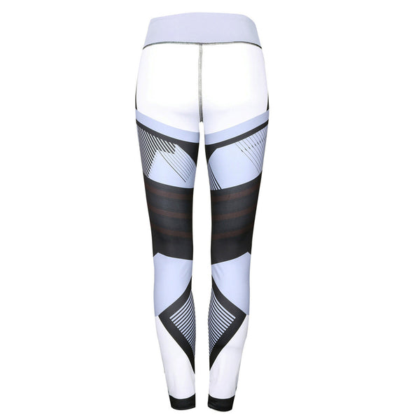 Womens Sports Gym Yoga Workout Mid Waist Running Pants Fitness Elastic Leggings