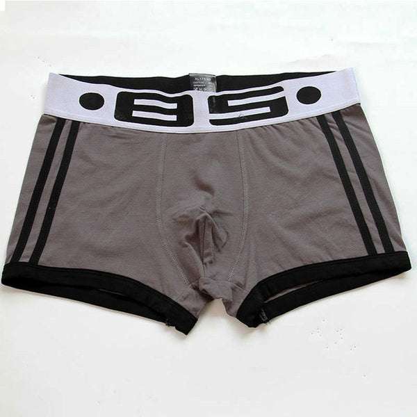 Mens Cotton Sexy Boxers Underwear with Pouch