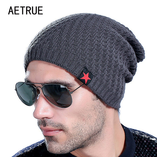 Knitted Baggy Headwear Beanie in 6 Colours