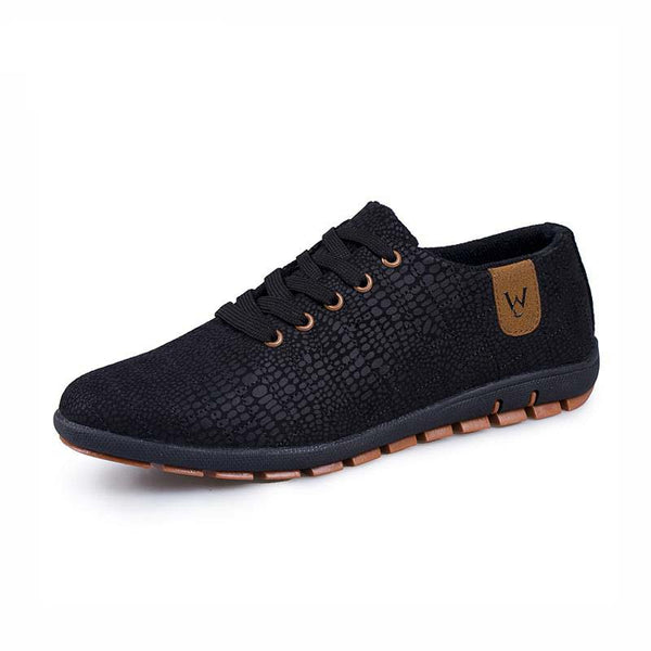 Breathable Mens Casual Low Lace-up Canvas Flat Shoes - The Clothing Company Sydney