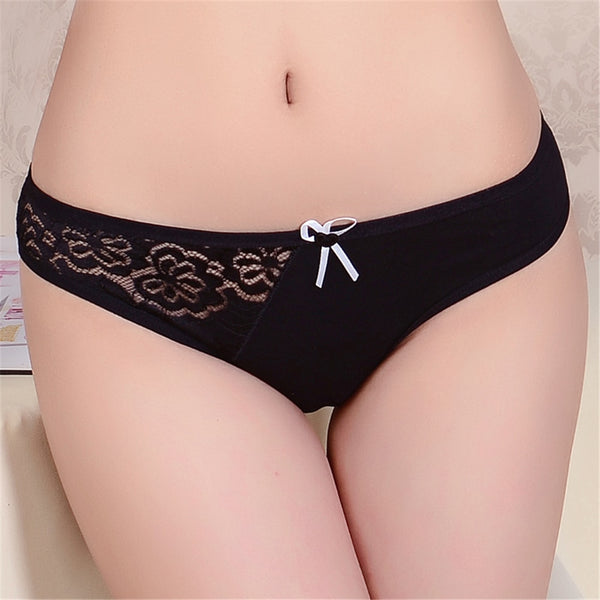 Lace seamless plus size women cotton underwear panties