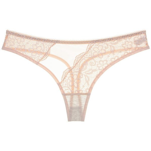 Exquisite Embroidery Floral Women Underwear String Lingerie Transparent Sexy Panties Thong Female Briefs