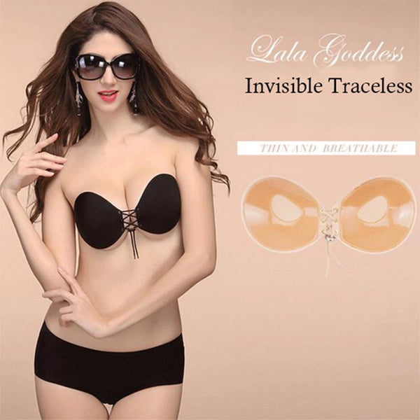 Seamless Strapless Silicone Push Up Bra Wire Free Invisible Bra