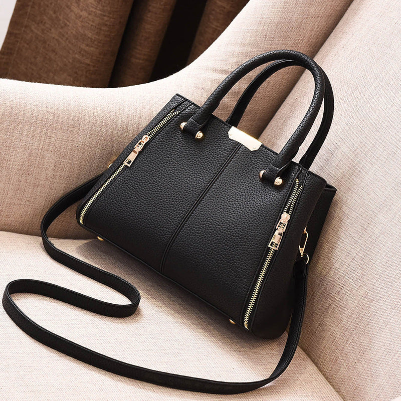 Ladies Fashion Shoulder Hand Bag With Zipper