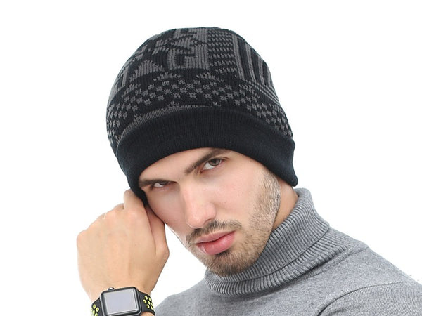 2 Piece Winter Knitted Beanie and Scarf