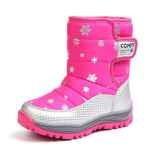 Winter Warm Skiing Shoes Kids Boots Waterproof Children's Shoes Girls Boys Kids Boots