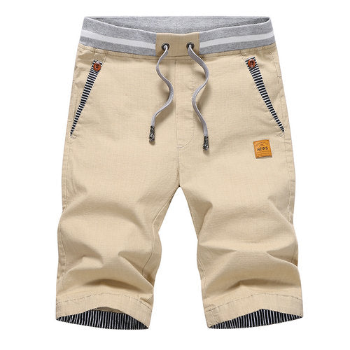 summer solid casual mens cargo shorts (plus size)