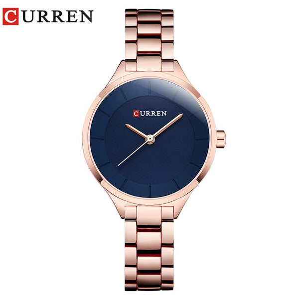 Top Brand Fashion Stainless Steel Band Quartz Wrist Watch Ladies Watches