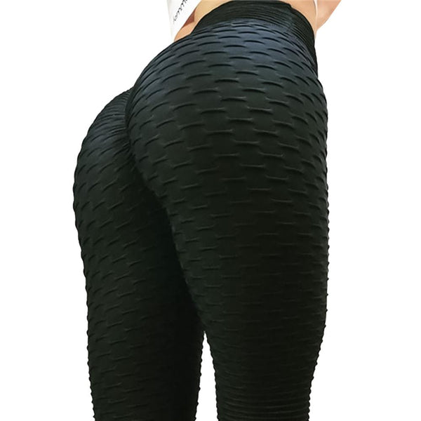 Fitness High Waist Pants Female Workout Breathable Skinny Black Leggings