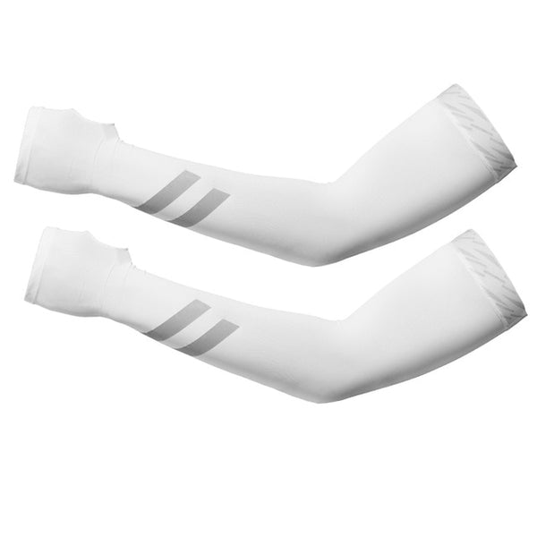 Cycling Sunscreen Anti-UV Arm Sleeves Ice Silk Fabric Basketball Outdoor Volleyball Sleeves Sport Fitness Arm Warmers