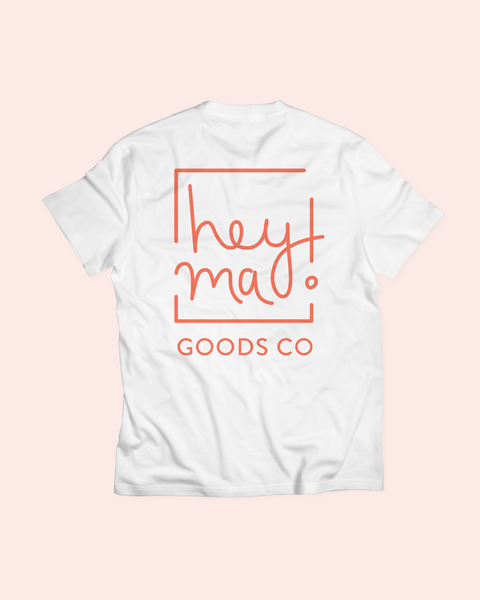 hey ma goods co tee, hmgc logo tee, logo tee shirt, hey ma logo tee, hey ma tee shirt, third eye tee shirt, hmgc third eye tee