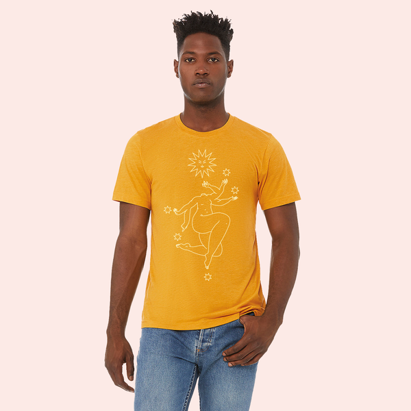 the star tarot, hey ma goods, hey ma goods co, star goddess tee, the star goddess tee, tarot tee shirt, tarot inspired tee, goddess tee