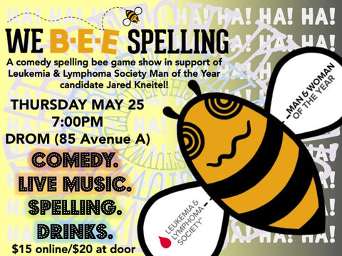 "The ""We Bee Spelling"" Spelling Bee to Benefit LLS - Thursday, May 25"