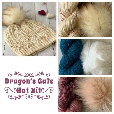 Dragon's Gate Hat Kit (includes yarn, pattern, and optional pompom)