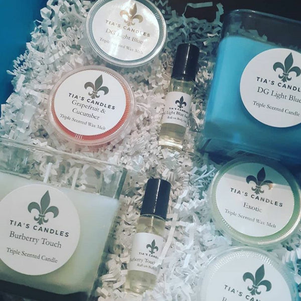 Cologne Candles, Body Oil and Wax Melts Gift Box