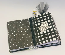 Black and white journal book.