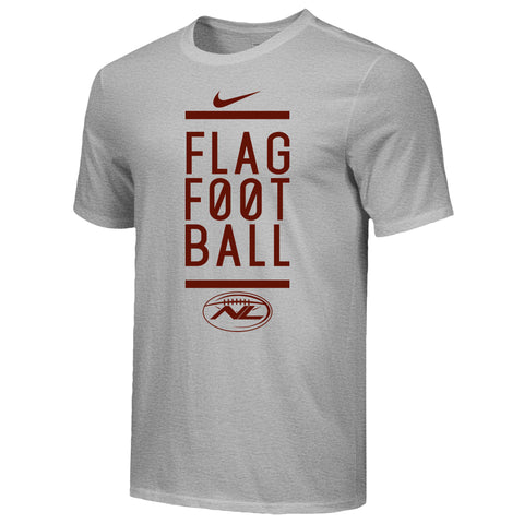 Team 'Stacked' Cotton Nike T-Shirt - Maroon