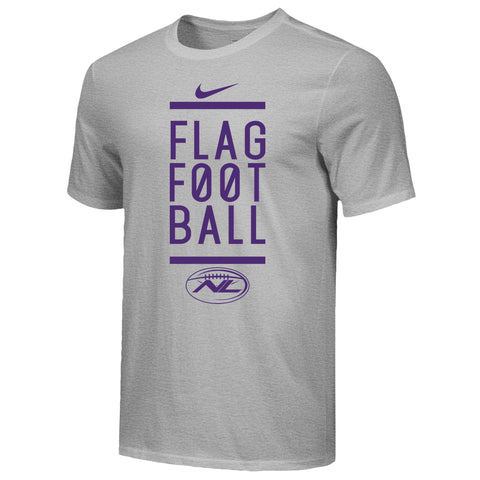 Team 'Stacked' Cotton Nike T-Shirt - Purple