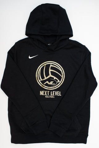 Volleyball Fleece Hoodie in Black