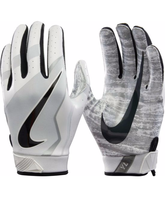 Nike Youth Vapor Jet 4.0 Receiver Gloves in Grey – Next Level Sports 1535836d0