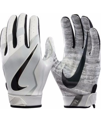 Nike Youth Vapor Jet 4.0 Receiver Gloves in Grey