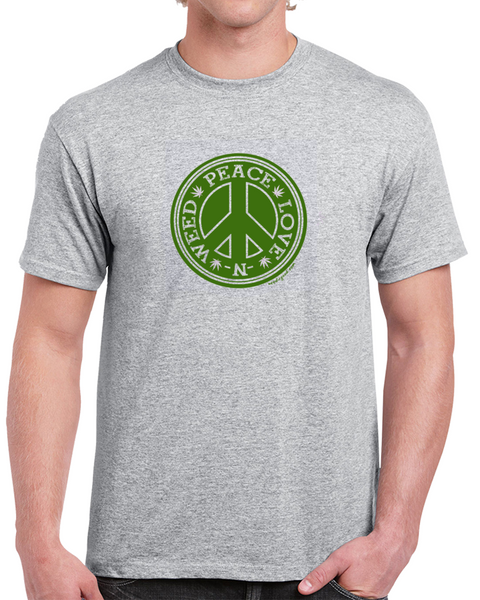 Peace, Love & Weed T Shirt