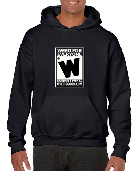 Black Hoodie Weed for Everyone Gamer Hoodies