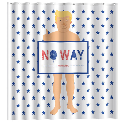 Wimaha Mischievous Donald John Naked Trump Shower Curtain