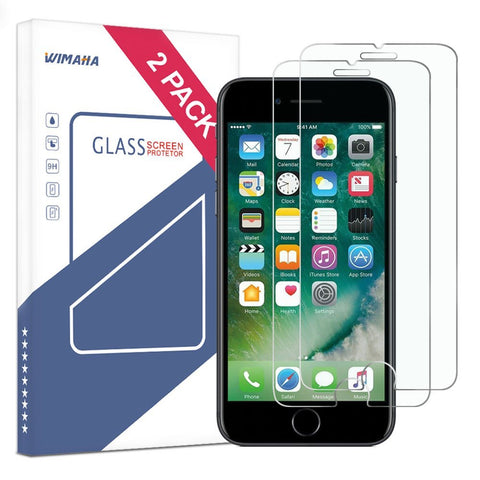 Wimaha Tempered Glass Screen Protector for Apple iPhone 7