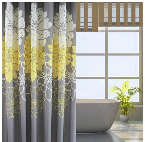 Wimaha Peony Flower Fabric Shower Curtain , 72 x 72