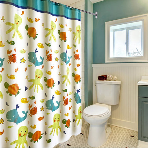 "Wimaha Kids Polyester Shower Curtains with Animal Theme (72""*72"")"