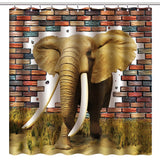 "Wimaha100% fabric polyester shower curtain, fearless elephant, (72 ""* 72"")"