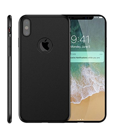 Wimaha Hard PC case for Apple iPhone X Heavy Duty Protection,Black