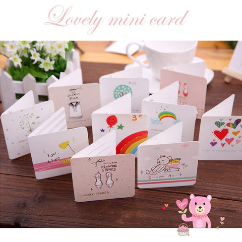Wimaha Cartoon Mini Cards 48 Pcs Lovely Greeting Cards for All Festivals