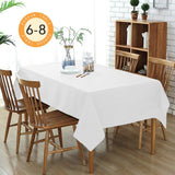 Wimaha Solid White Rectangular Tablecloth for Rectangle Table,59 x 82In